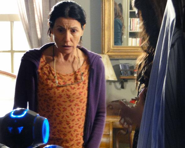 Dulce fica espantada ao ser apresentada a Zariguim (Foto: Morde & Assopra / TV Globo)