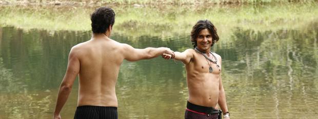 áureo chama josué para entrar no rio (Foto: Morde & Assopra/ TV Globo)