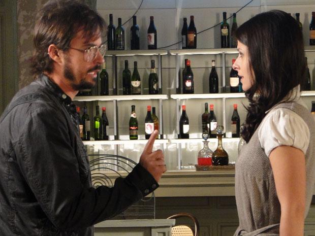 Cristiano termina o noivado com Abelha (Foto: Morde & Assopra / TV Globo)