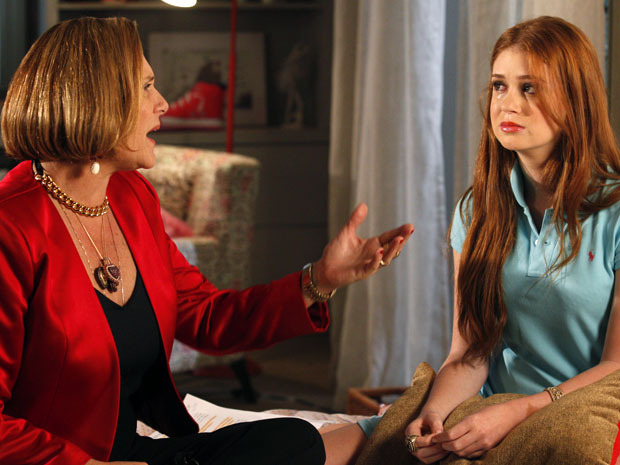 Minerva diz que o tempo vai ajudá-la (Foto: Morde & Assopra / TV Globo)
