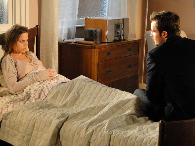 Wilson promete cuidar de Melissa (Foto: Morde&Assopra/TVGlobo)