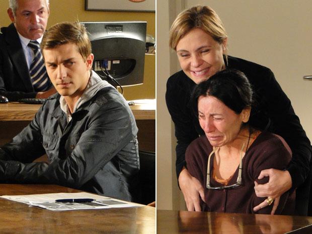 Guilherme não gosta decisão e Dulce não contém as lágrimas (Foto: Morde & Assopra/TV Globo)