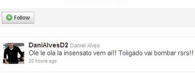 Daniel Alves usa as redes sociais para comentar sobre Insensato Coração  (Foto: Insensato Coração / Tv Globo)