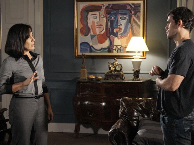 Norma promete piorar a vingança contra Léo (Foto: Insensato Coração / TV Globo)