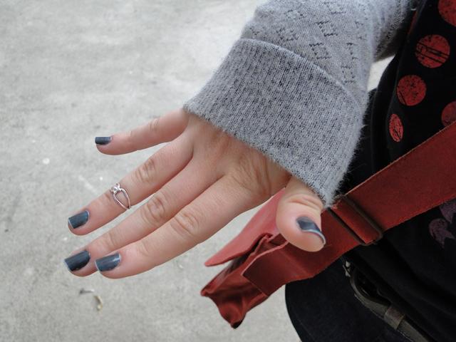 O truque é usar uma camada de azul bebê e outra de cinza grafite.