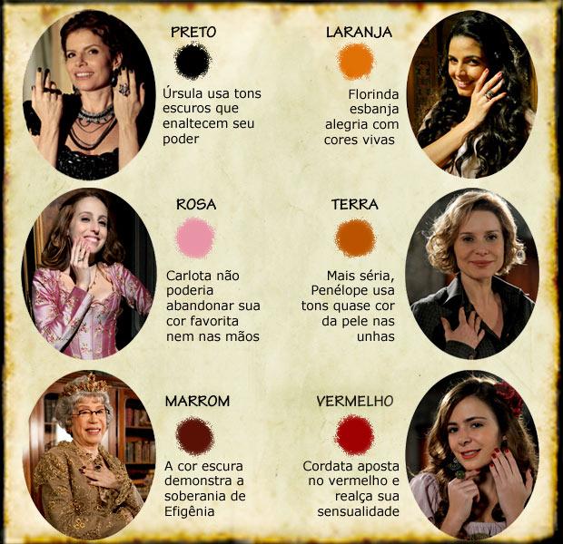 Os esmaltes das mulheres de Cordel Encantado (Foto: Cordel Encantado/Tv Globo)