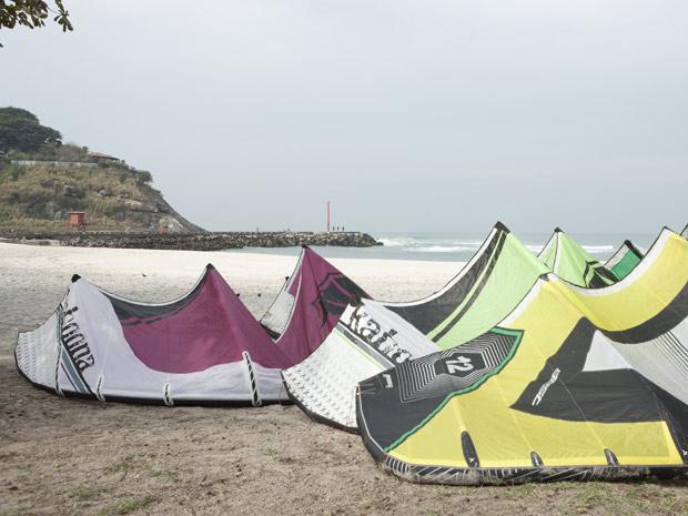 A prática do kitesurf estará na trama (Foto: Fina Estampa/TV Globo)