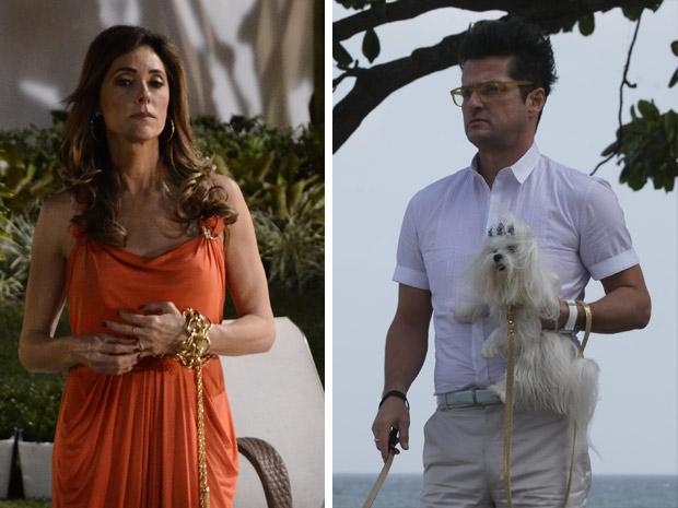 Os figurinos de Tereza Cristina e seu mordomo Crô estão entre os destaques de Fina Estampa (Foto: Fina Estampa/TV Globo)