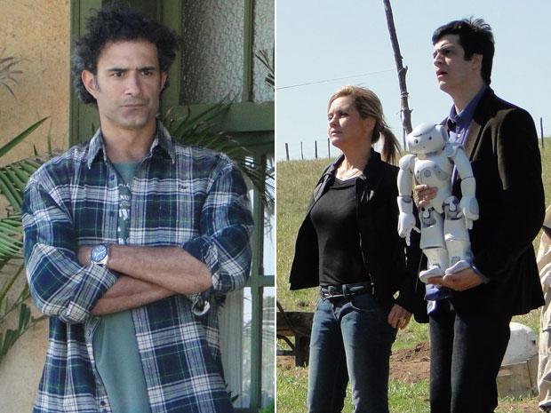 Abner não gosta de ver Júlia e Ícaro em sua fazenda (Foto: Morde & Assopra/TV Globo)