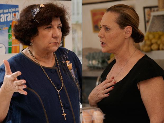 Salomé é surpreendida após provocar Minerva (Foto: Morde & Assopra/TV Globo)