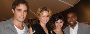 Leandra Leal e Thiago Martins se divertiram em gravação do final (Insensato Coração/ TV Globo)