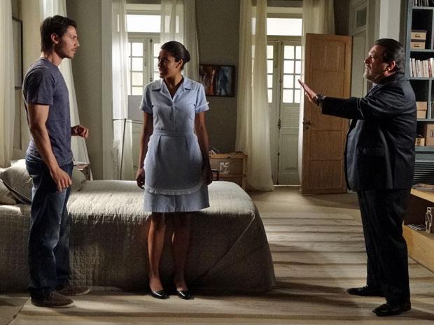 Lidia fica decepcionada com a reação de Tiago (Foto: Morde & Assopra/TV Globo)
