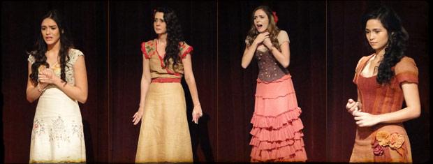 Rosa, Janaína, Cordata e Lilica participaram da seleção (Foto: Cordel Encantado/Tv Globo)