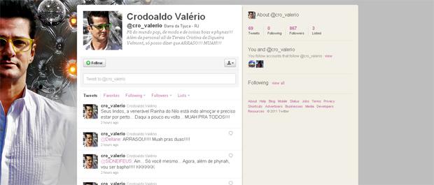 Perfil de Crô já tem seguidores fieis (Foto: Fina Estampa/TV Globo)