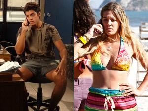 Ele liga para Nanda e pede para ela contar a Dagmar (Foto: Fina Estampa/ TV Globo)