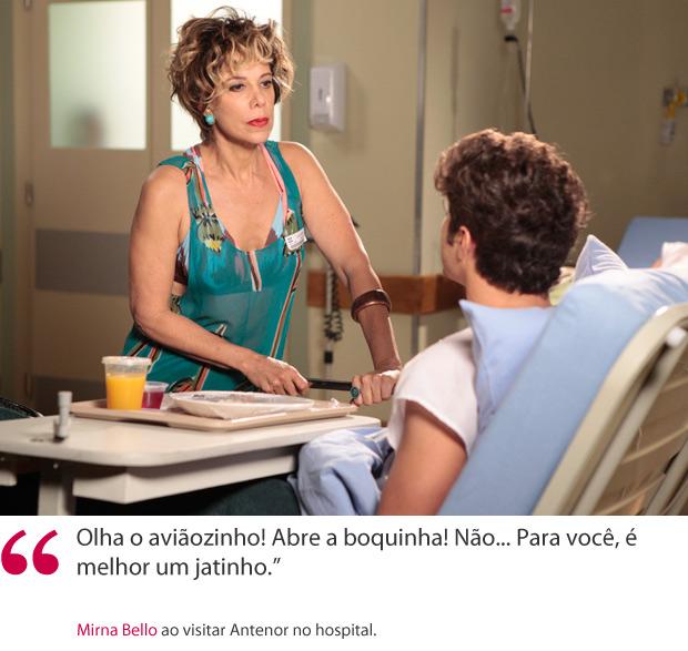 Frase Mirna (Foto: Fina Estampa / TV Globo)