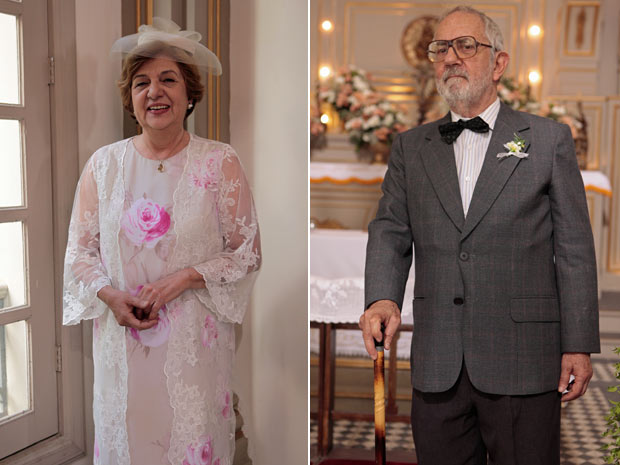 Hortência e Plínio são exemplo de simplicidade para casais de idosos (Foto: Morde e Assopra/TV Globo)