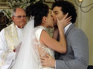 Veja o emocionante casamento de Márcio e Lili (OAstro/TVGlobo)