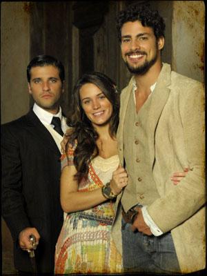 O trio de protagonistas (Foto: Cordel Encantado/TV Globo)