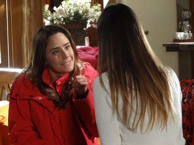 Ana expulsa Alice de sua casa (Foto: A Vida da Gente / TV Globo)