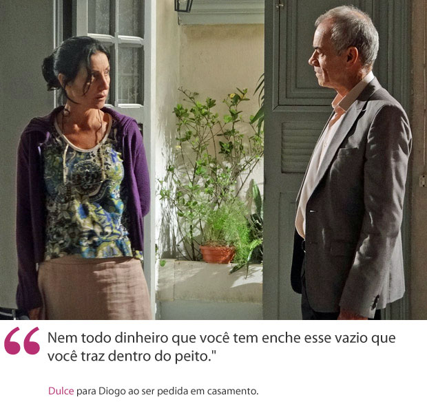 Dulce para Diogo (Foto: Morde & Assopra/TV Globo)