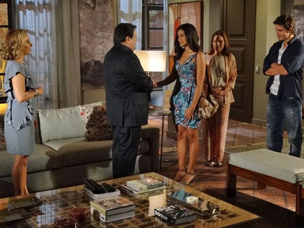 Oséas reconhece que Lidia deve ser uma boa pessoa (Foto: Morde & Assopra/TV Globo)