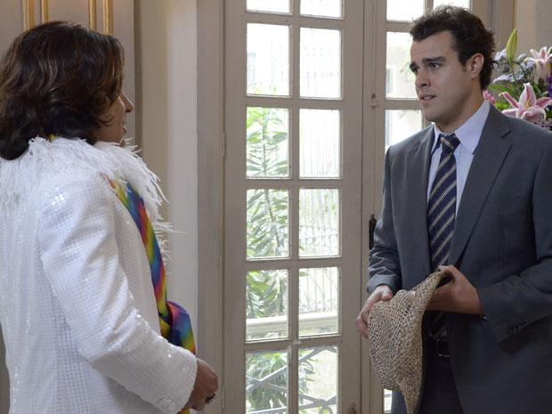 Josué não quer ver Áureo casado com Celeste (Foto: Morde & Assopra/TV Globo)