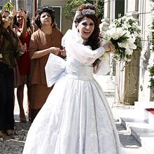 Cleonice se casou com Eliseu e realizou o sonho de princesa (Morde & Assopra / TV Globo)