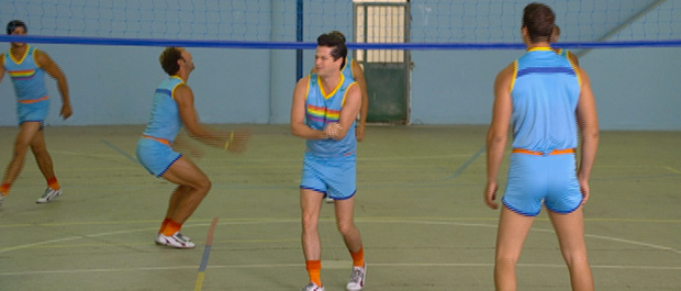 O time mostra que tem força durante os treinos (Foto: Fina Estampa / TV Globo)