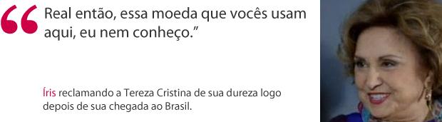 Frase Íris (Foto: Fina Estampa / TV Globo)