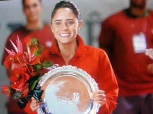 Ana supera as expectativas e vence primeiro torneio após a gravidez (Foto: A Vida da Gente - Tv Globo)