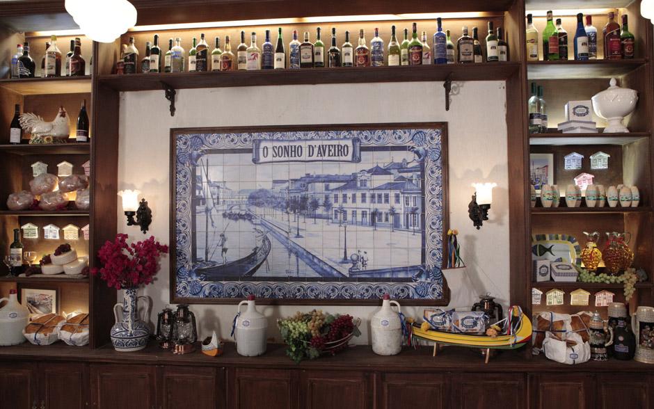 Azulejos são detaques na decoração do Sonho d'Aveiro