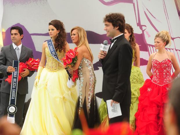 Belezinha fica em segundo lugar no concurso (Foto: TV Globo)