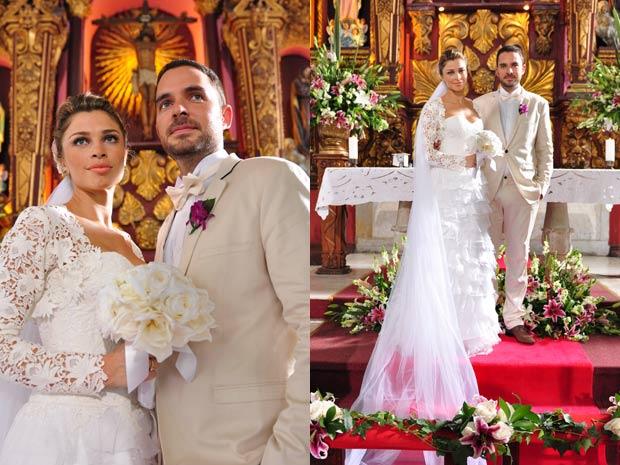 Grazi Massafera gravou cenas de casamento na Colômbia (Foto: TV Globo/Estevam Avellar)