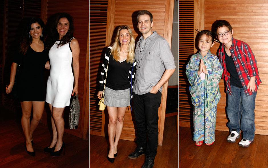 Vanessa Giácomo, Vera Mancini e Flávia Alessandra com modelitos curtos. Otaviano Costa e Henry Fiuka apostaram no xadrez. A bela Carol Murai apareceu florida