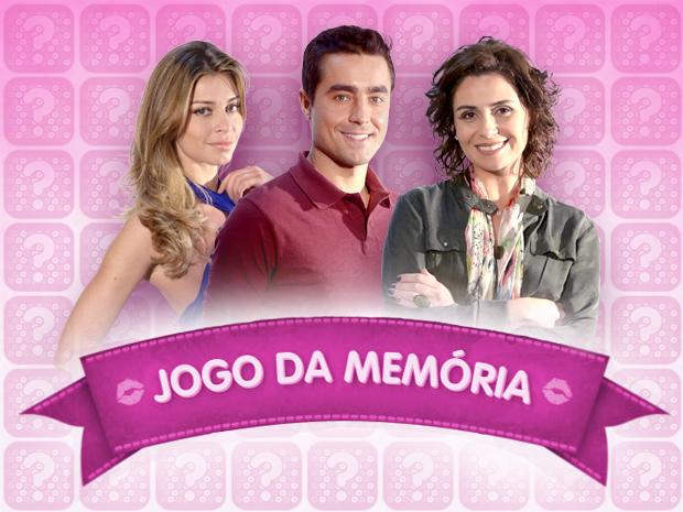 Jogo da memória de Aquele Beijo (Foto: TV Globo)