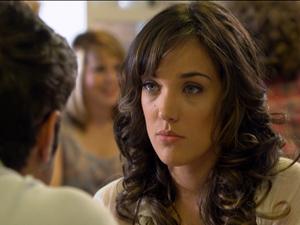 Patrícia diz que fraquejou ao ficar com o ex (Foto: Fina Estampa/ TV Globo)
