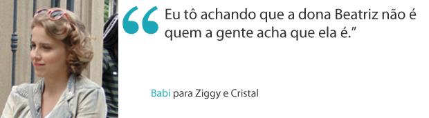 Frases da semana 9 Babi (Foto: Malhação / TV Globo)