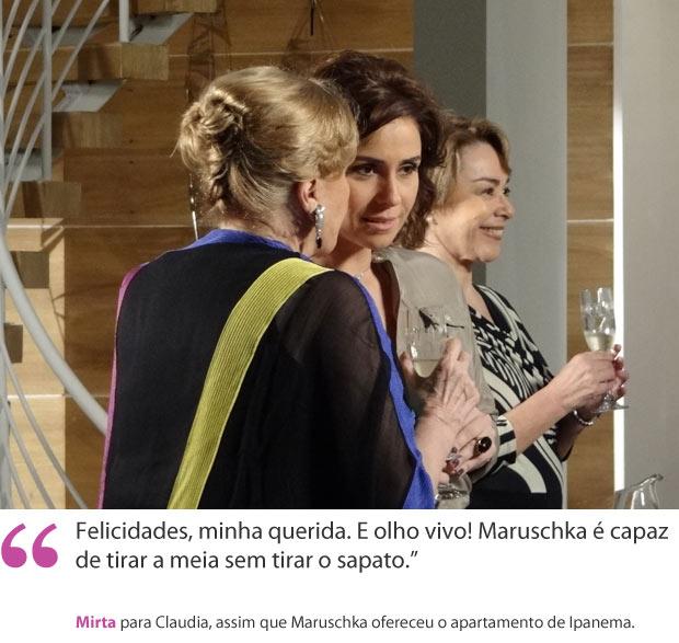 Mirta e Claudia (Foto: Aquele Beijo/TV Globo)