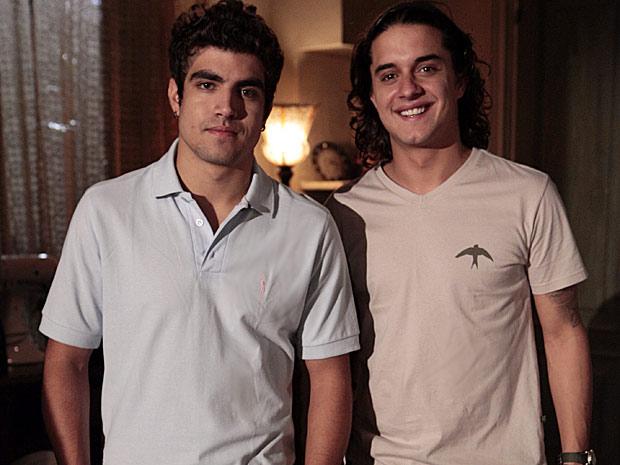 Caio Castro e Guilherme Boury já eram amigos antes da novela (Foto: Fina Estampa/ TV Globo)