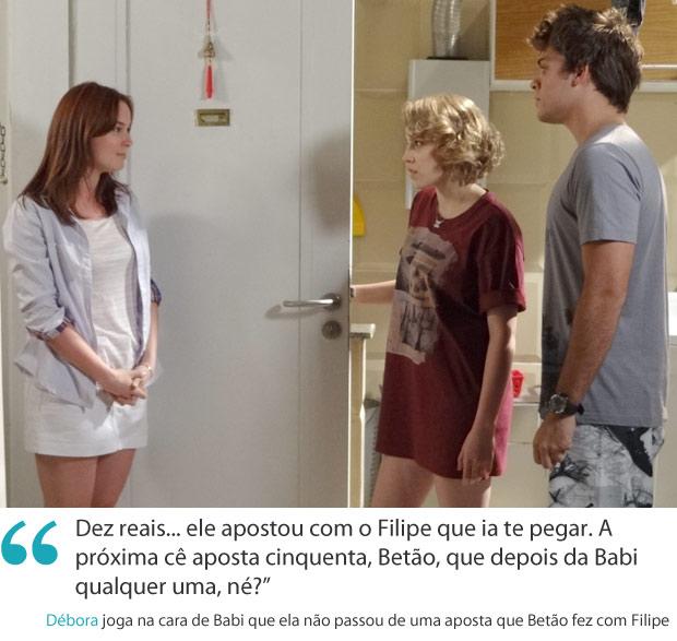 Frases da semana 10 debora (Foto: Malhação / TV Globo)