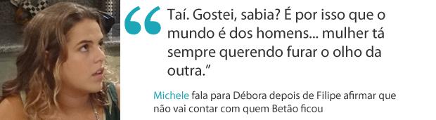 Frases da semana 10 michele (Foto: Malhação / TV Globo)