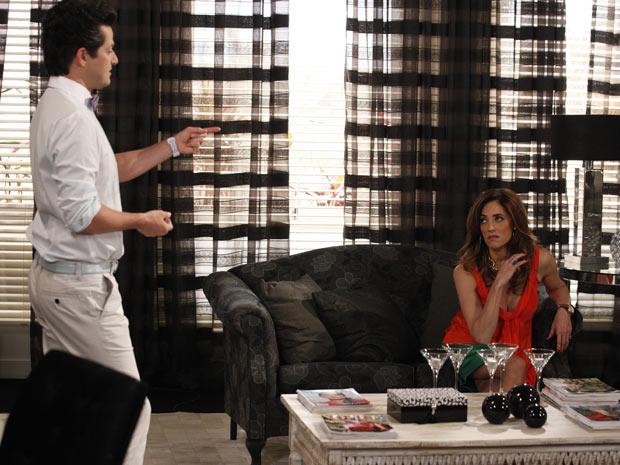 Tereza Cristina diz que vai armar um plano para se vingar de Griselda (Foto: Fina Estampa/TV Globo)