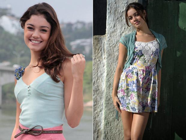 Anel da própria atriz e vestidos leves e estampados compõem visual de Amália (Foto: Fina Estampa/TV Globo)