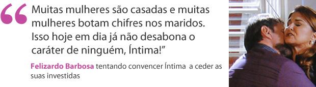 felizardo e íntima (Foto: Aquele Beijo/TV Globo)