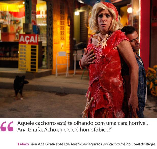 frases teleco ana girafa (Foto: Aquele Beijo / TV Globo)