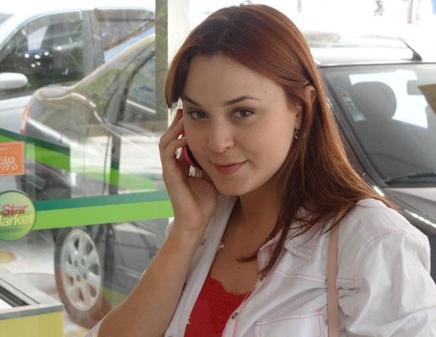 Juliana como debora nas gravações (Foto: Malhação/TV Globo)