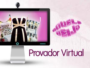 provador virtual (Foto: Aquele Beijo/TV Globo)