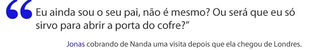 Jonas reclama do descaso de Nanda (Foto: A Vida da Gente / TV Globo)