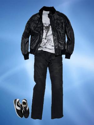Abuse de calças escuras e jaquetas de couro (Foto: Divulgação)